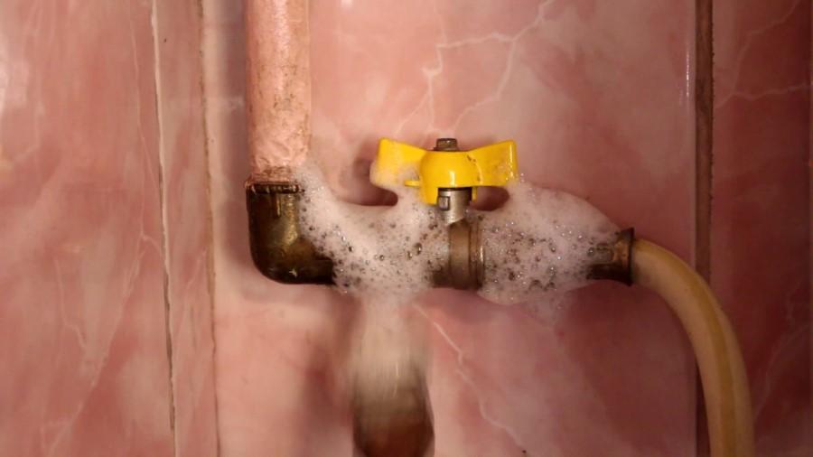 Проверка с помощью мыльного раствора