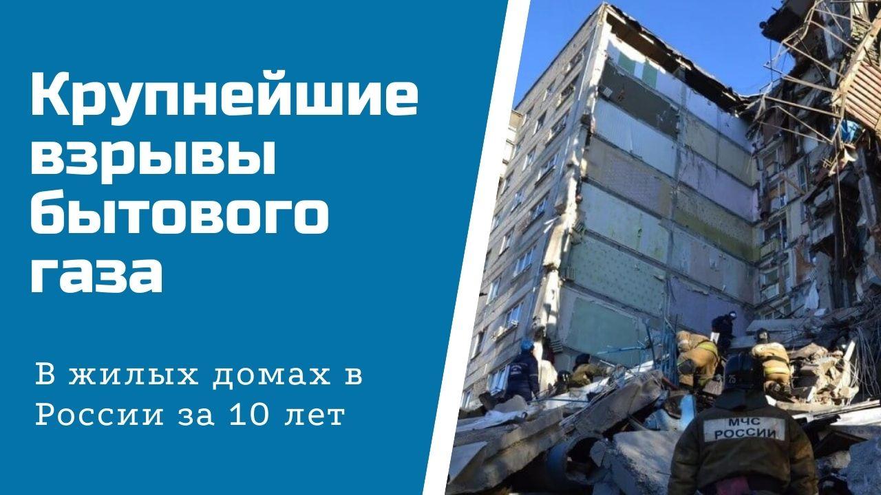 Крупнейшие взрывы бытового газа в жилых домах в России
