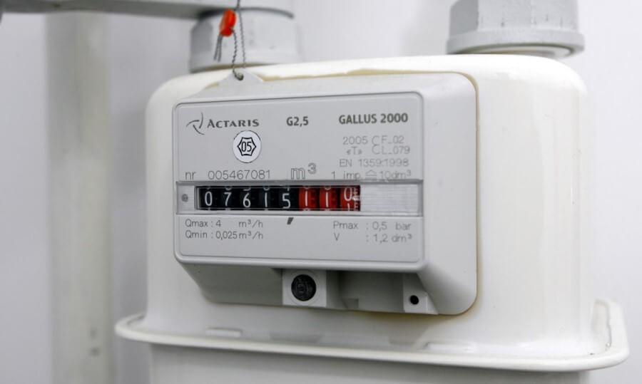 Пломба на приборе учета газа