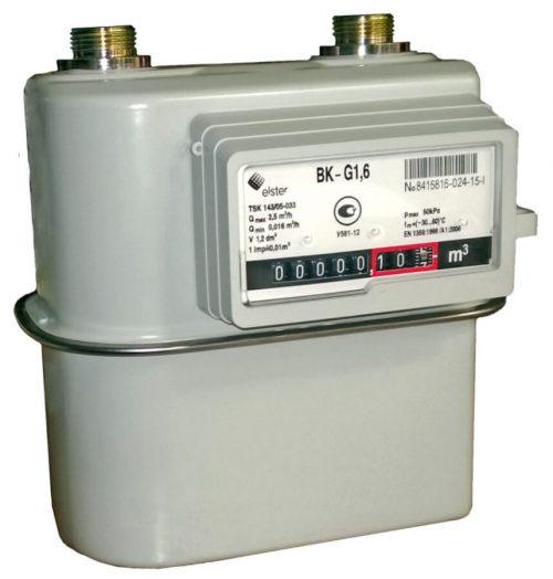 Газовый счетчик Elster BK-G1.6 левый