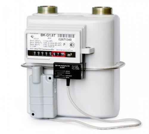 Газовый счетчик Elster BK-G1.6T левый