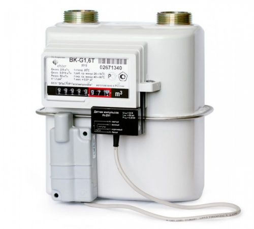 Газовый счетчик Elster BK-G1.6T правый