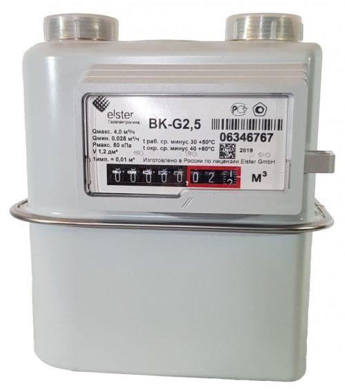 Газовый счетчик Elster BK-G2.5T левый