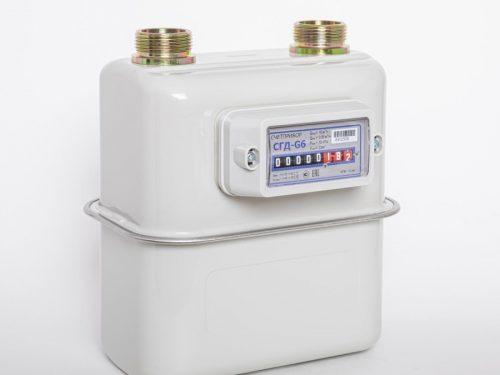 Газовый счетчик Счетприбор СГД-G6 правый